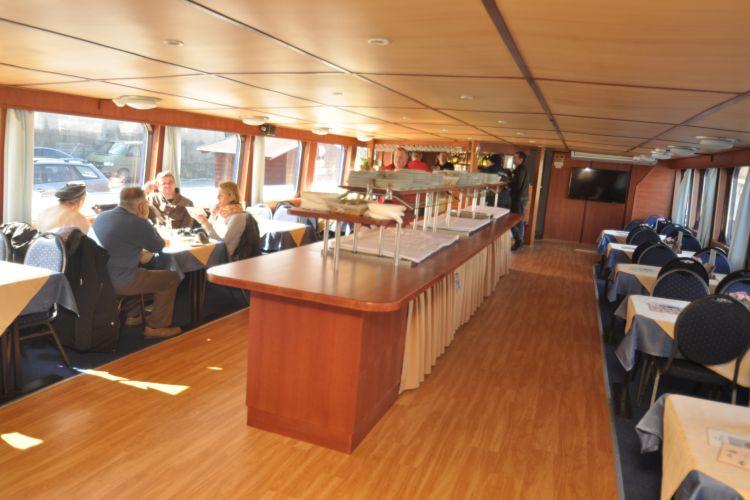 Classic River boat's main salon