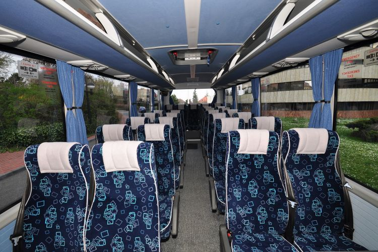 Interior of the Minibus