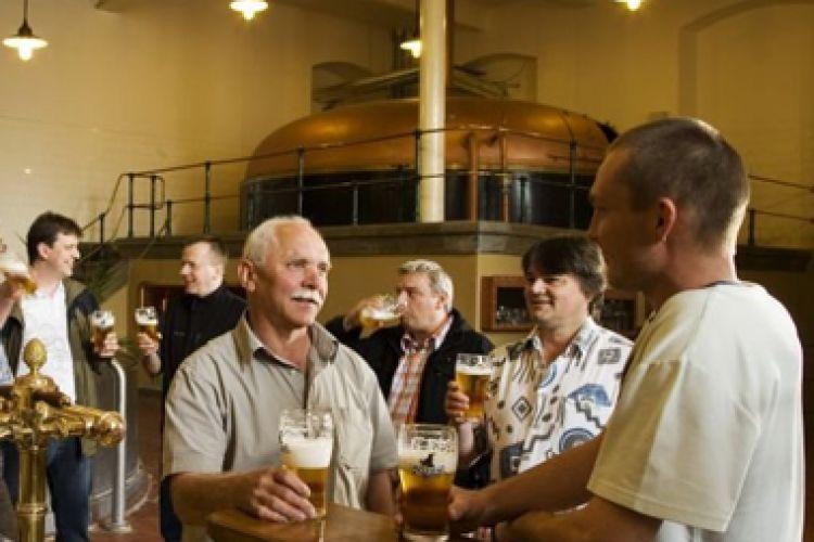 Návštěva pivovaru, Velké Popovice