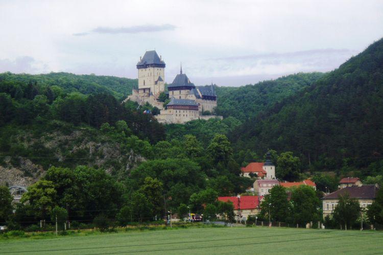 Panoramic view of the Castle Karlštejn