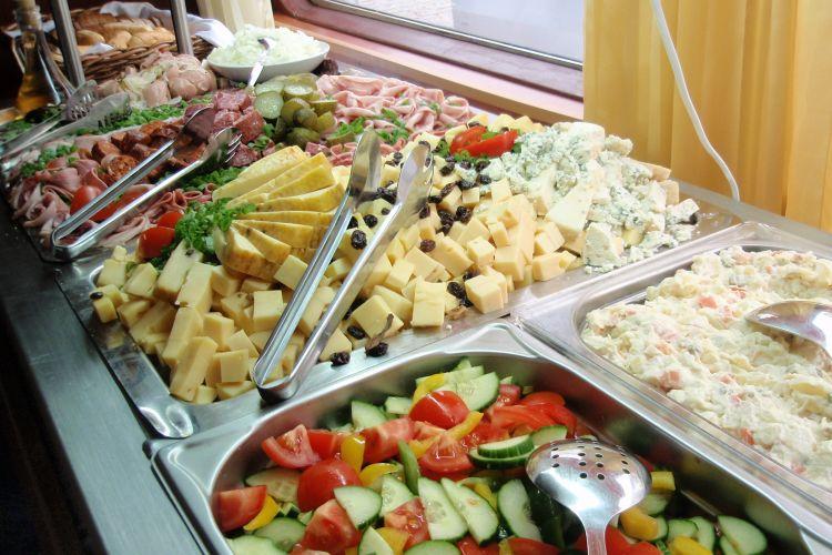 Buffet style dinner