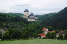 Panoramic view of the Castle Karlštejn
